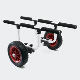 Aluminium trolley 90kg PU wiel Ø26cm met verstelbare steunbreedte