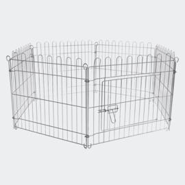 Buitenverblijf, box, puppybox, 6-delig. 60x60 cm per element.