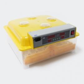 Automatische broedmachine, geschikt voor 48 eieren met 4 grote kijkvensters.