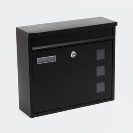 Brievenbus; Wandbrievenbus, Mailbox Type V12 zwart
