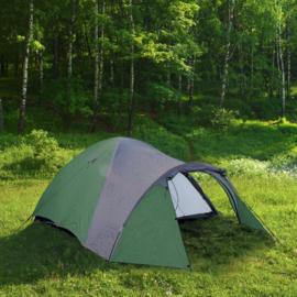 3-Persoons Iglo tent; groen/grijs 210 x 120 x 130cm, Triple Tent.