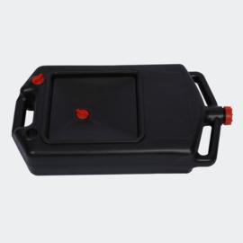 Kunststof Olie-opvang-tank, opvangbak met 8 liter inhoud.