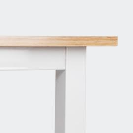 Schrijftafel, Bureau 120x60x70cm eiken kleur met MDF tafelblad.
