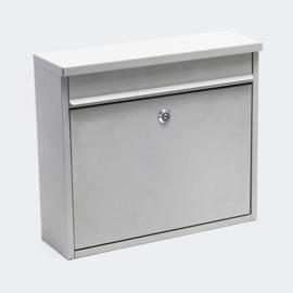 Brievenbus; Wandbrievenbus, Mailbox Type V13 zilver