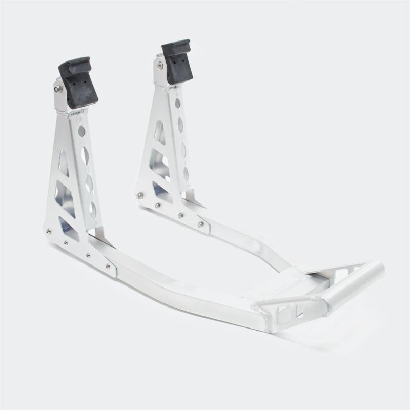 Motorstandaard montagestandaard voorzijde aluminium voorwielstandaard.