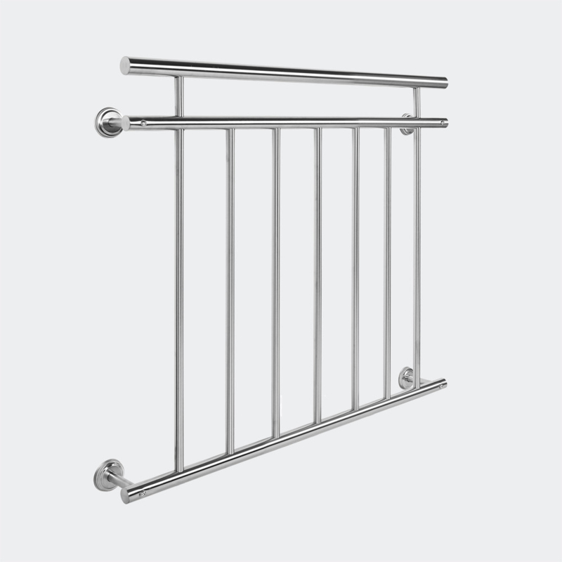 Frans Balkonleuning/Hekwerk; roestvast staal 90x100cm.