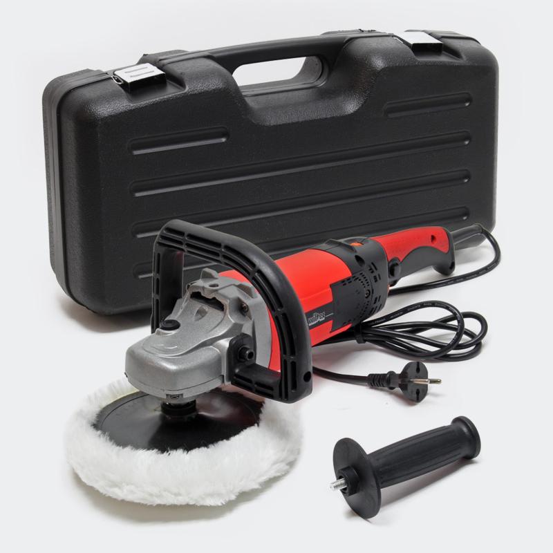 Polijstmachine slijpmachine 1500W tot 3000tpm 6-traps polijstmachine set.