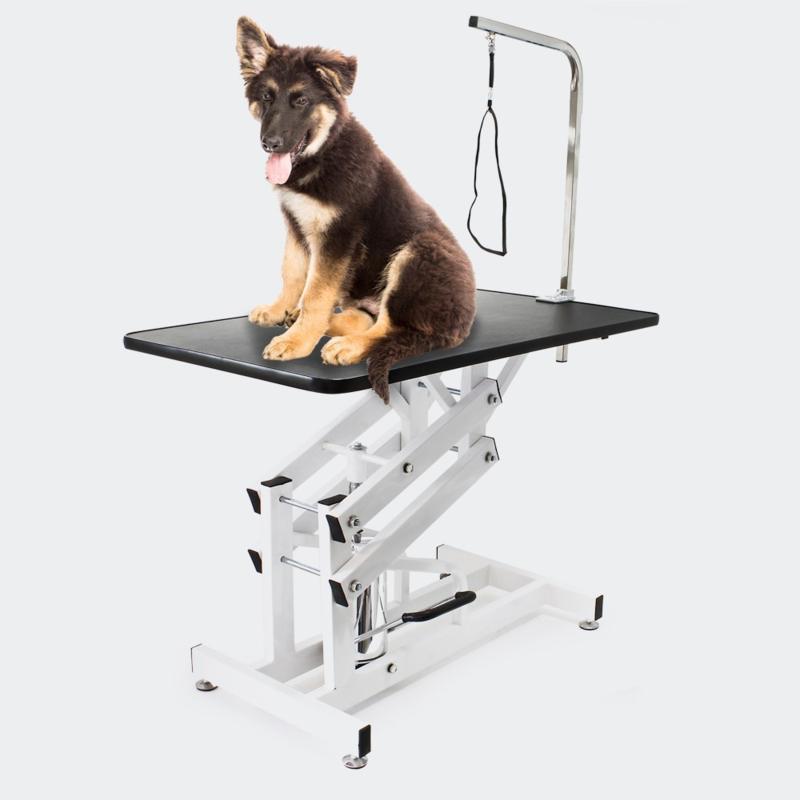 Honden Trimtafel, schaartafel in hoogte verstelbaar.