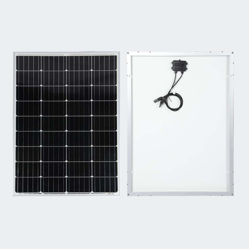 130W zonnepaneel met monokristallijne cellen 18V 1290x675mm.