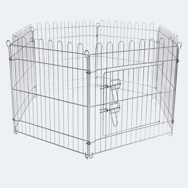Buitenverblijf, box, puppybox, 6-delig. 70x91 cm per element.