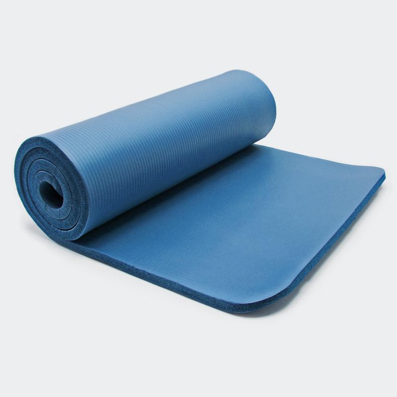 Yogamat blauw 180 x 60 x 1,5cm gymnastiekmat vloermat sportmat