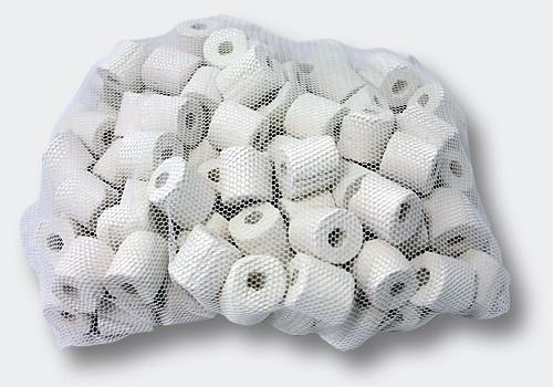 Filtermateriaal; Keramische ringen, 450 gram