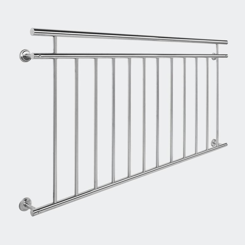 Frans Balkonleuning/Hekwerk; roestvast staal 90x156cm.