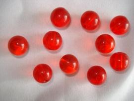 Glaskraal rond 10 mm rood