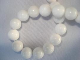 Natuursteen kraal 12 mm wit