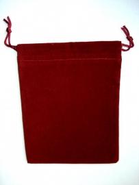 Velours zakje bordeaux rood 9x12 cm