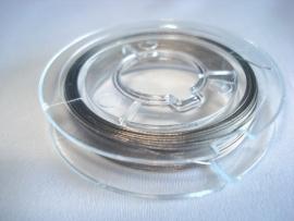 Rol gecoat staaldraad staalkleur 0,38 mm (10 meter)