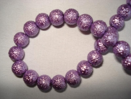 IJsparel rond 6 mm purper lila