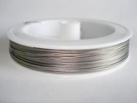 Rol gecoat staaldraad staalkleur 0,45 mm (83 meter)