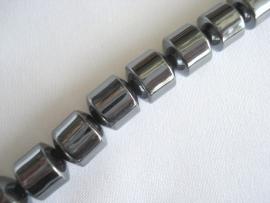Streng magnetische hematiet kralen cilinder 8 mm