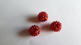shamballa kraal 14 mm rood