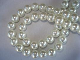 Glasparel rond 16 mm wit