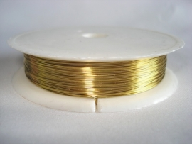 Rol metaaldraad 0,3 mm goudkleur (wire-wire)
