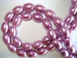 Glasparel ovaal violet lila