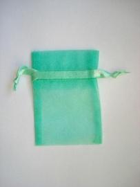 Organza zakje mint groen