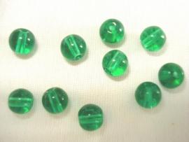 Glaskraal rond 15 mm groen