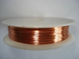 Rol metaaldraad 0,3 mm licht koper/zalm (wire-wire)