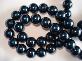 Glasparel rond 12 mm donker donkerblauw