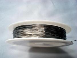 Rol gecoat staaldraad staalkleur 0,45 mm (10 meter)