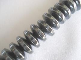 Streng magnetische hematiet kralen spacer 10x4 mm