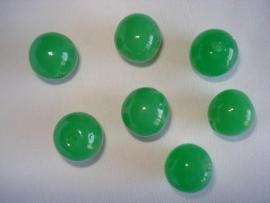 Glaskraal rond 16 mm appelgroen