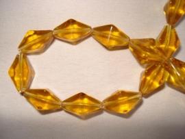 Facet glaskraal bicone langwerpig goudbruin