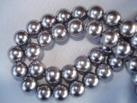 Glasparel rond 8 mm grijs