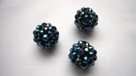 shamballa kraal 14 mm donker blauw
