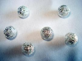 Tibetaanse filigrijn kraal zilverkleur 8 mm