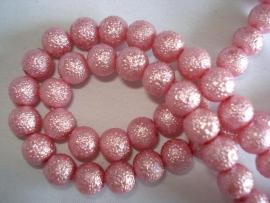 IJsparel rond 8 mm roze