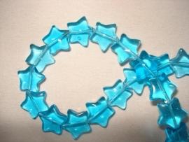 Glaskraal stervormig aquablauw