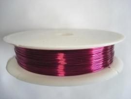 Rol metaaldraad 0,3 mm donkerroze (wire-wire)