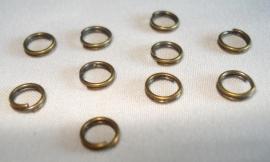Dubbele ringetjes bronskleur 5 mm 10 stuks
