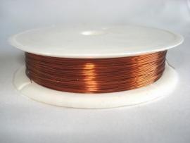 Rol metaaldraad 0,3 mm koper/oranjebruin (wire-wire)