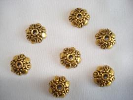 Kraalkapje goudkleur 9x3 mm