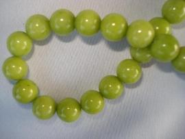 Natuursteen kraal 12 mm lime groen