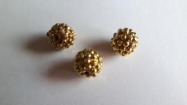 shamballa kraal 14 mm zacht goud
