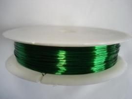 Rol metaaldraad 0,3 mm donkergroen (wire-wire)