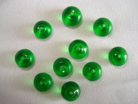 Glaskraal rondell 8 x 6 mm diepgroen