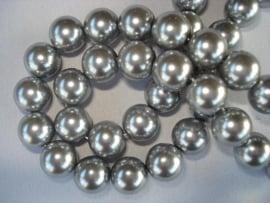 Glasparel rond 10 mm zilvergrijs